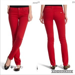 WHBM Red Blanc Slim Ankle Jeans size 6